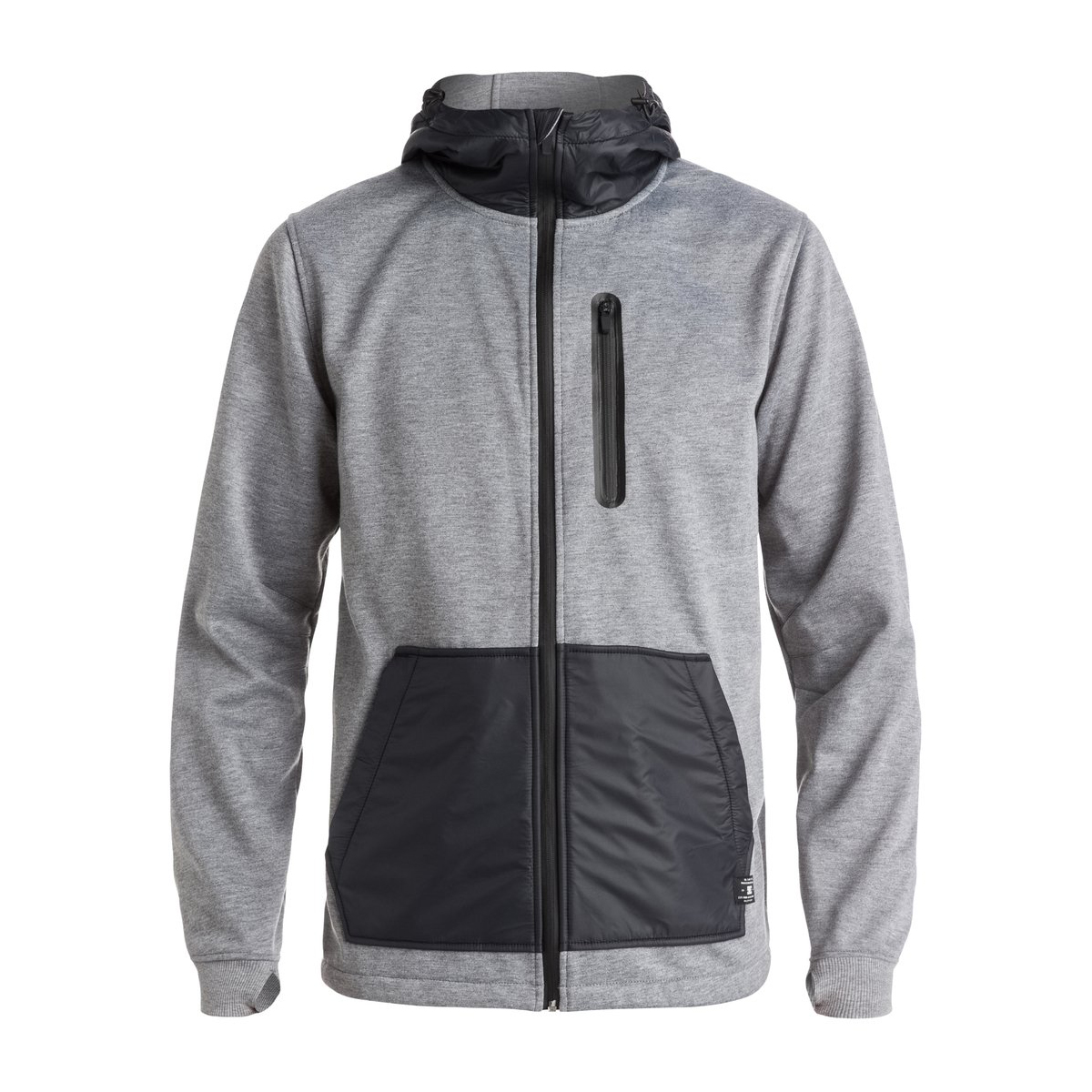 DC United Fleece Mens Zip Hood